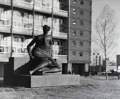 dawn pereira henry moore and the welfare state henry moore moore s draped seated w 1957 8 at the stifford estate in 1962
