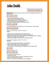 Cv For Cleaning Job 12 13 Resume For Cleaning Position Lasweetvida Com