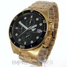 new mens emporio armani gold chronograph watch ar5857 rrp new mens emporio armani gold chrono watch ar5857 rrp £399 00