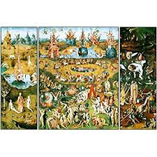 garden of earthly delights poster. Hieronymus Bosch Garden Of Earthly Delights Triptych Art Print Poster 12x18 E