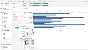 Tableau Tutorial 11 How To Move Labels Inside Below The Bar Chart