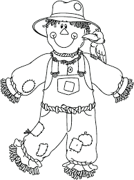 Small Picture Coloring Pages Scarecrow Color Pages Coloring Images Scarecrow