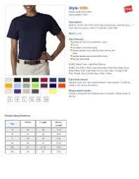 Hanes Comfortsoft T Shirts Size Chart Hanes Heavyweight