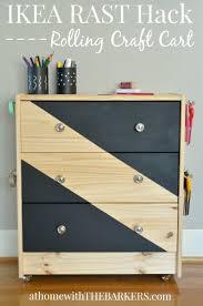 Congenial Rolling Craft Cart Ikea Rast Hack Ikea Rast Dresser Hacks Clutter  in Ikea Rolling Cart
