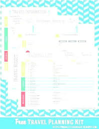 Travel Itineraries Template Musacreative Co