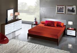 Modern Bedroom Storage Two Tone Modern Bedroom W Wooden Flat Or Storage Bed