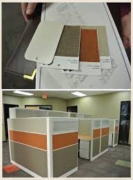 office colors for walls. Cubicle Walls Are Khaki Green, Wheat And Rusty Orange. All Wall Colors Need To Coordinate With These Textiles. Office For