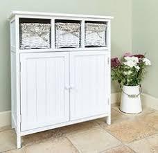 Shabby Chic Storage Bathroom Door 3Drawer Wicker Bedroom Sideboard Hall  Cupboard