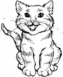 Small Picture Cute Kitty Cat Roaring For Meal Coloring Page 13984