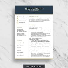 Best One Page Modern Resume Resume Template Etsy Best Free Resume