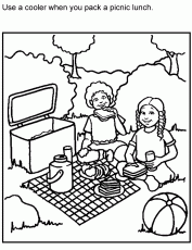 Small Picture Learning Years Child Safety Coloring Page Barefoot Safety