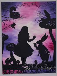 alice in wonderland art for original hand painted acrylic wall art white rabbit caterpillar