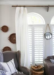 diy wood curtain rods with a restoration hardware look for a fraction