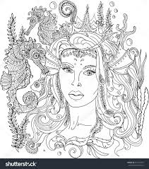 Free Printable Coloring Pages For Adults Mermaids Fresh Mermaid