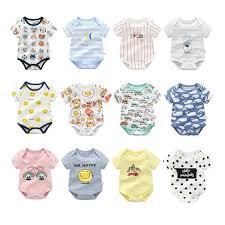 Baby Colorful <b>Multicolored</b> Cotton Romper Bodysuit Onesie ...