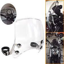 """GUAIMI <b>Windscreen</b> 5"""" Round-Headlight <b>Windshield</b> 39-<b>41mm</b> Fork ..."""