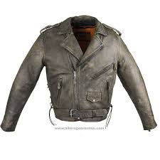 mens distressed dark brown leather motorcycle jacket