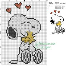 Snoopy Embroidery Designs Free Snoopy And Woodstock Free Cartoons Cross Stitch Pattern