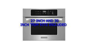 kitchenaid built in microwave ovens kitchenaid architect series ii kbms1454bss