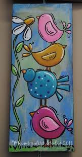 painting a grow in love piece with hearts and birds for kids church this is similar idea the colours the idea everything