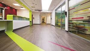 the patients and staff of chorley hospital s urgent care centre can view the colourful life of the ocean s c beds thanks to forbo flooring systems