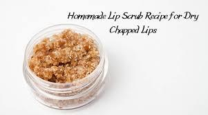 homemade lip scrub recipe for soft and