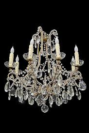 antique italian eight arm beaded chandelier