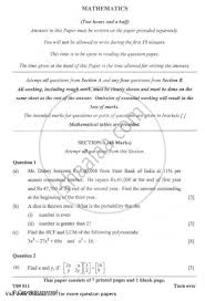 question paper icse class 10 mathematics 2008 2009 with pdf