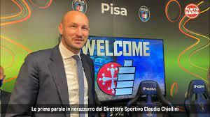 Pisa Sc, presentato il nuovo DS Claudio Chiellini - YouTube