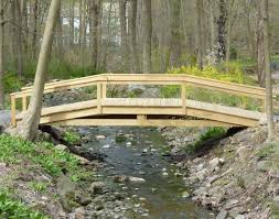 Garden Bridge Design And Construction Treated Pine Hawthorne Bridge In 2019 Garden Bridge Pond