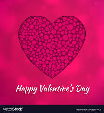 Happy Valentines Day Greeting Card Design Concept