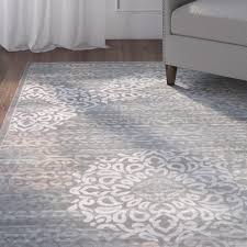 impressive grey area rug on charlton home ackermanville gray reviews wayfair