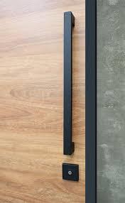 matte black entry pull handles 550mm long interior barn doors pinte