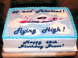 Cake Ideas For Mens 60th Birthday Airplane Recipe Pilot Photos