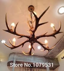 unique resin antler chandelier or country 6 head candle antler chandelier retro resin deer horn lamps fresh resin antler chandelier and country 6