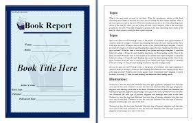 Book Report Sample - Design Templates