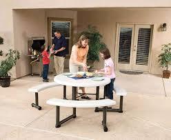 lifetime kids folding table decor idea on stunning lifetime 44 inch almond round picnic table