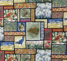 Quilting Patchwork Sewing Fabric GENTLE GARDEN FLORAL GREEN ... & Quilting Patchwork Sewing Cotton Fabric NEW ZEALAND KIWIS 50x55cm FQ NEW Adamdwight.com