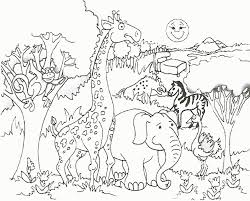 Safari Animals Template Free African Safari Animals Coloring Pages Download Free