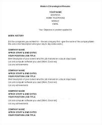 Resume Chronological Template Hostingpremium Co