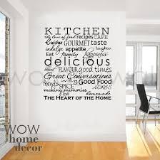 vinyl wall sticker art kitchen words