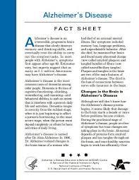 dementia fact sheet fact sheet alzheimers disease mental health research institute