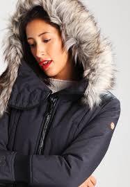 khujo retro bugs winter coat charcoal melange women coats