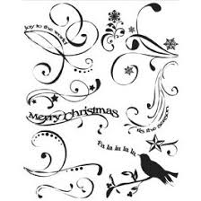 Christmas Swirls Autumn Leaves Clear Stamps A Rhonna Christmas Collection By Rhonna Farrer Rhonnas Christmas Swirls Clearance