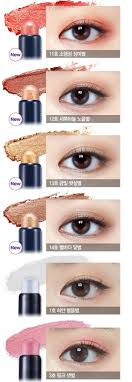 etude house bling bling eye stick eyeshadow i like the softer shimmery colours in korean style eye makeup over a prominently bright or smoky eye like