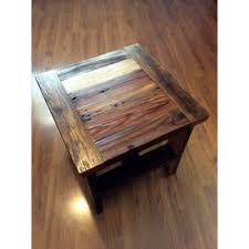 Image Cocktail Reclaimed Wood End Table Or Small Square Foter Unique End Tables And Coffee Tables Ideas On Foter