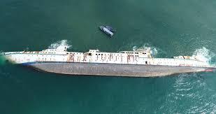 Trục vớt các tàu bị đắm tại vùng vịnh Qui Nhơn do hậu quả của cơn bão số 12  - An toàn môi trường