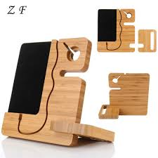 universal splicing wooden phone stand holder charging bracket desk table decoration for iphone samsung phone and