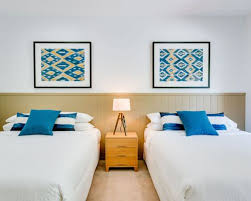 beach design bedroom. Design Ideas For A Beach Style Guest Bedroom In Other With White Walls, Carpet And E
