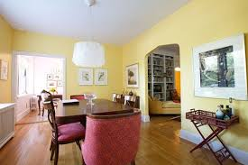 pale yellow dining room. pale yellow dining room apartment therapy